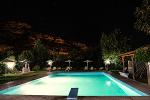 Hotel's Pool under the night sky